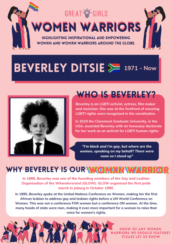Women Warrior - Beverley Ditsie