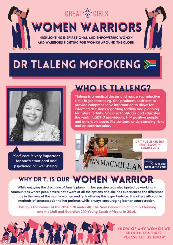 Women Warrior - Dr Tlaleng Mofokeng