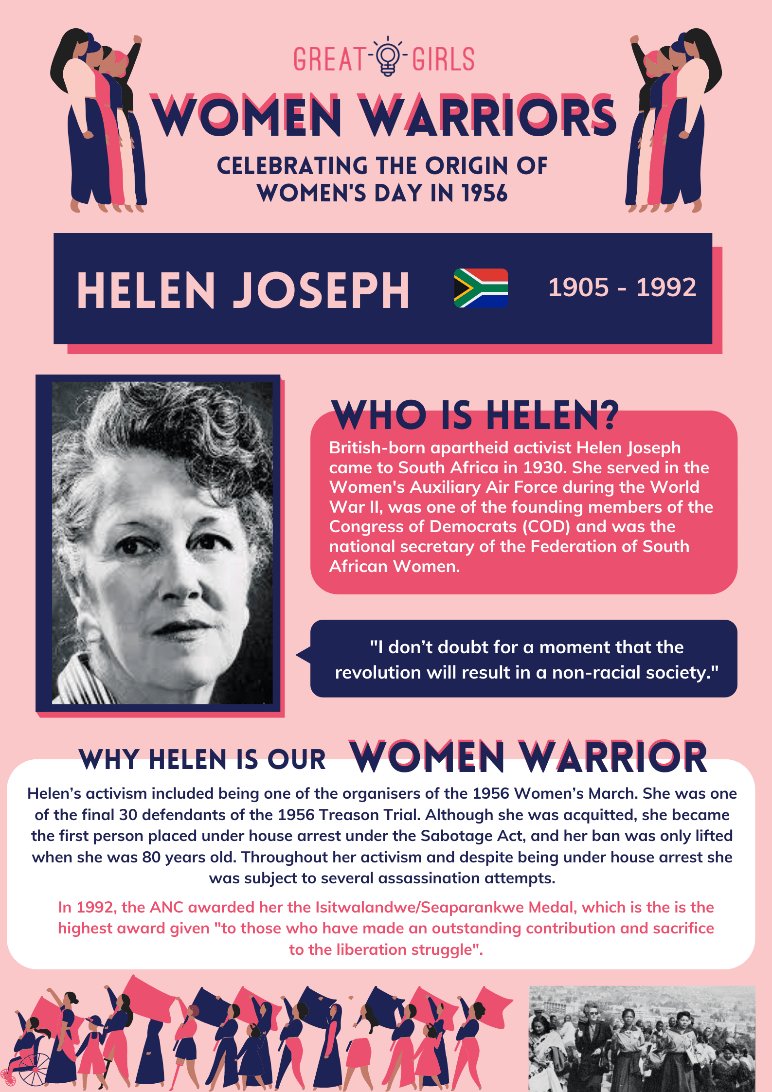 Women Warrior - Helen Joseph