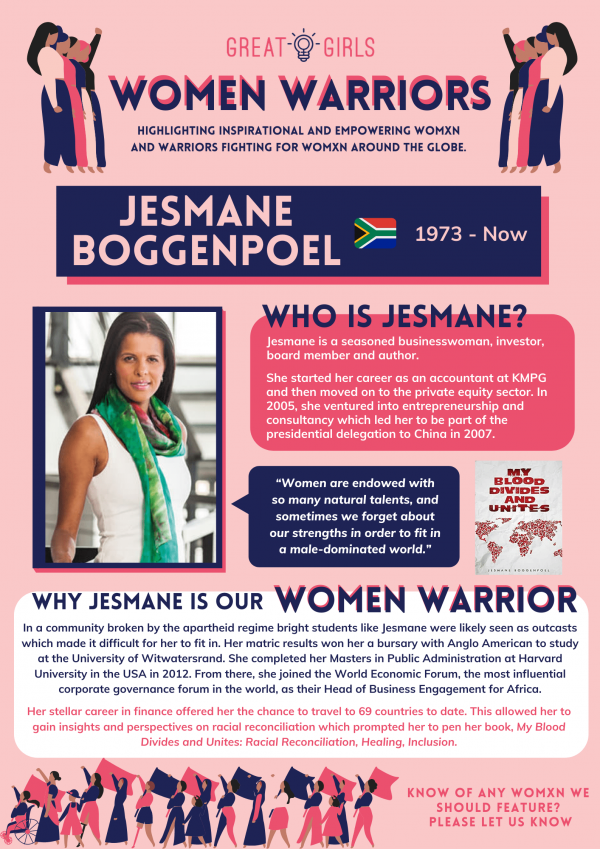 Women Warrior - Jesmane Boggenpoel