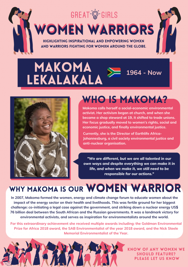 Women Warrior - Makoma Lekalakala