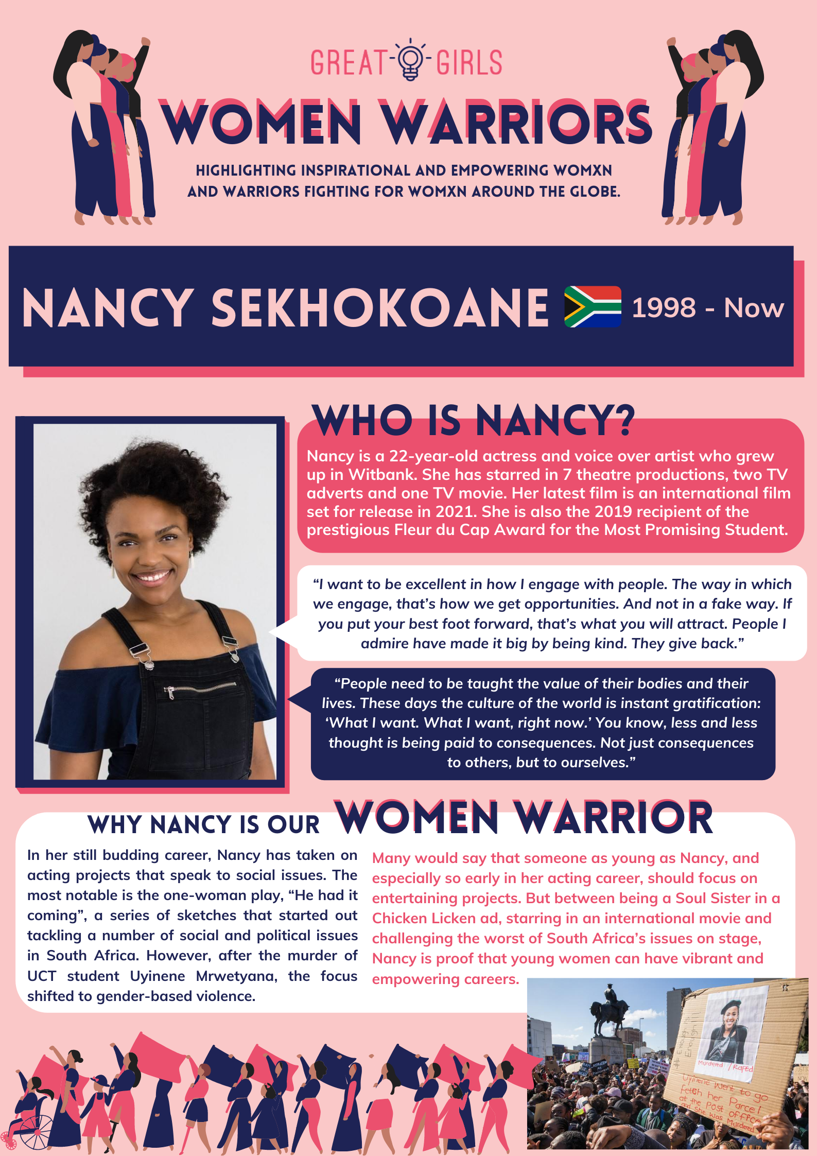 Women Warrior - Nancy Sekhokoane