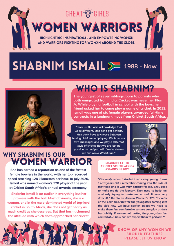 Women Warrior - Shabnim Ismail