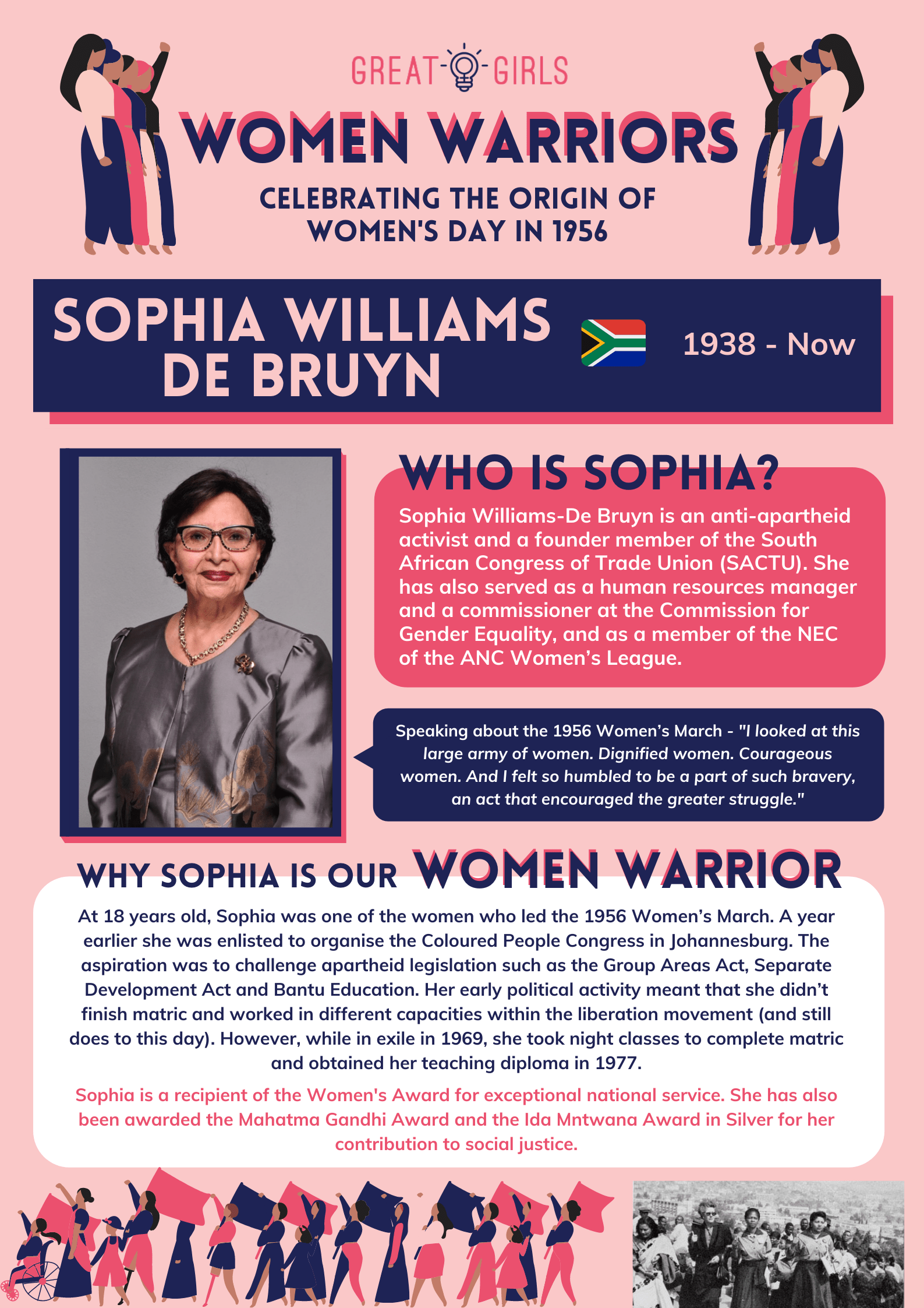 Women Warrior - Sophia Williams De Bruyn