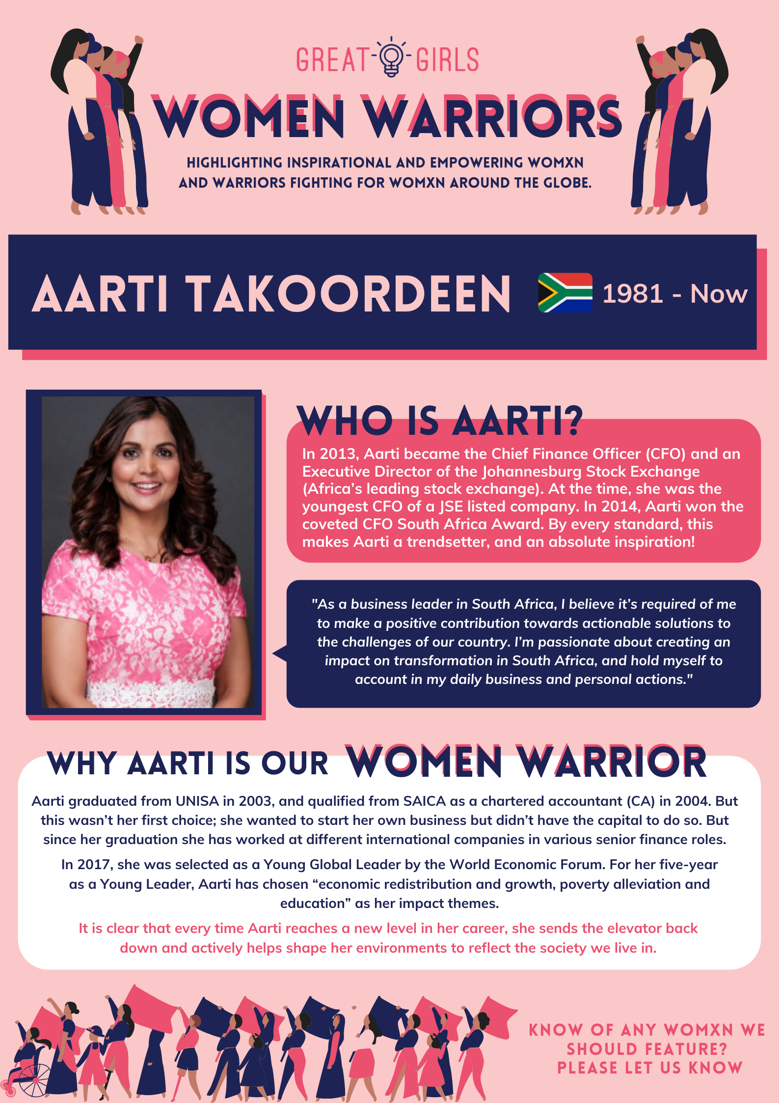 Women Warrior - Aarti Takoordeen
