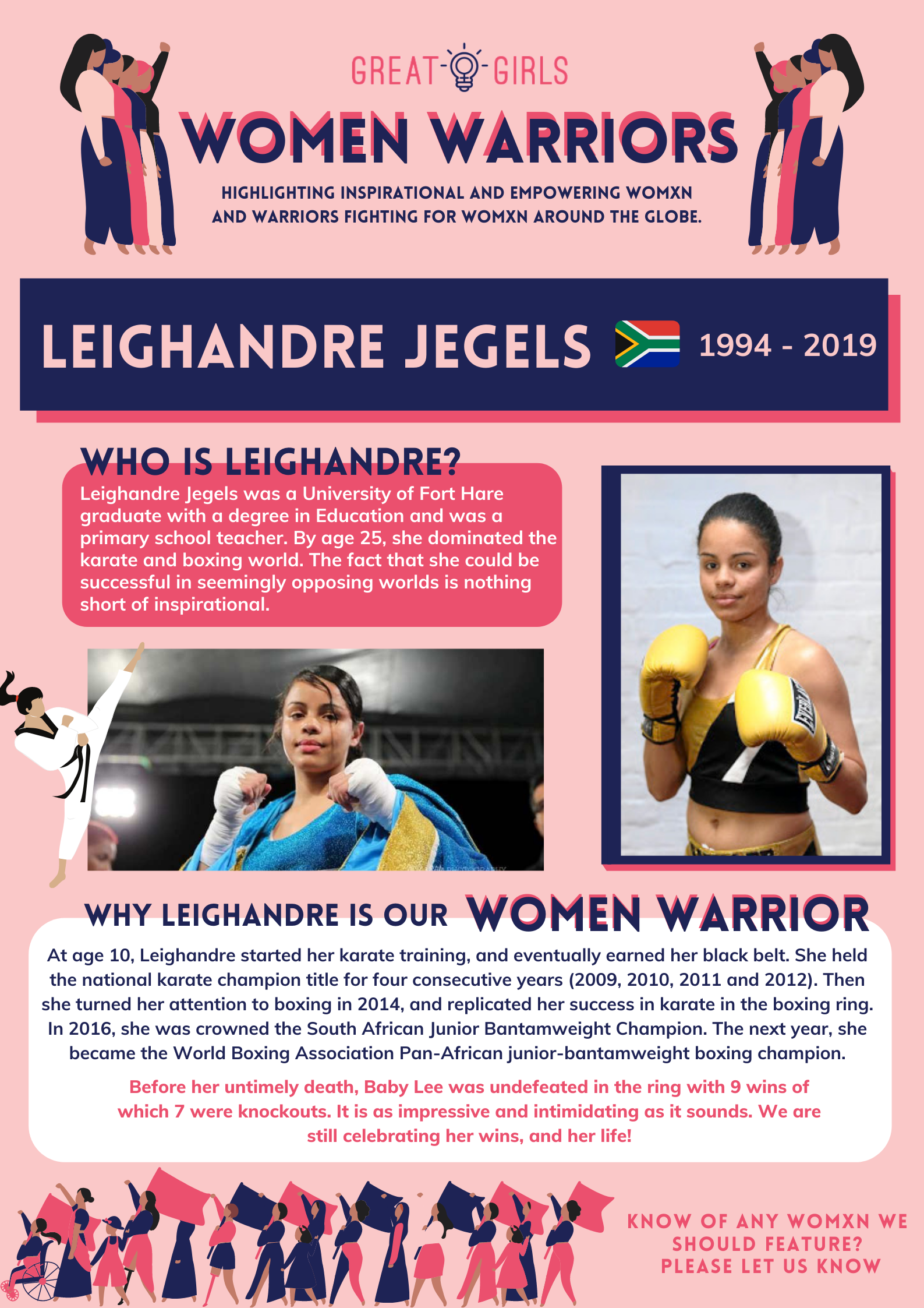 Women Warrior - Leighandre Jegels
