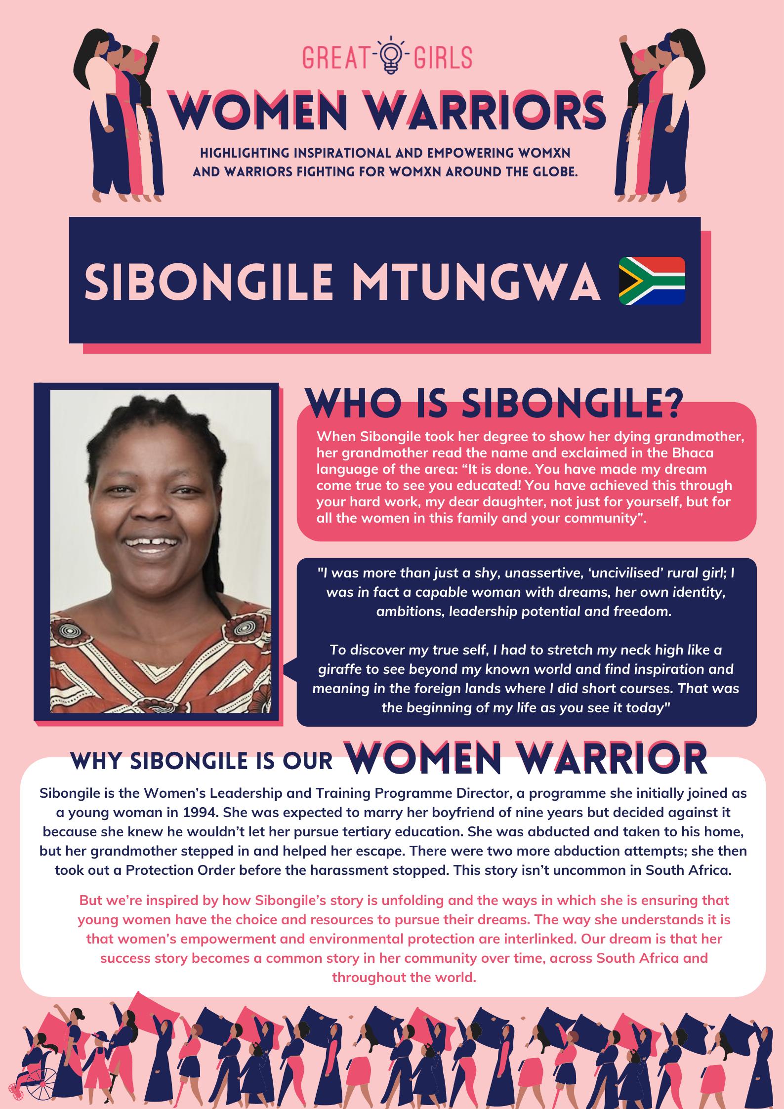 Women Warrior - Sibongile Mtungwa